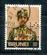 """4278 - BRUNEI - Mi.Nr. 198 Mit Perfin """"? 1 4 2"""" - Links Unten Mängel - Brunei (1984-...)"""