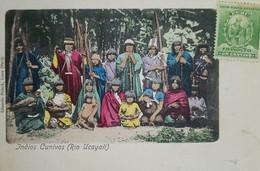 O) 1900 CIRCA, STAMP MANCO CAPAC -FOUNDER OF INCA DYNASTY SCT 142 FRANQUEO  1c  Green, CUNIVO INDIANS -CULTURE-COSTUMES, - Perù