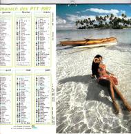 FEMME EXOTIQUE / TAHITI - Calendrier Des Postes 1987 - Calendriers