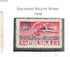 Polonia PO 1948 Bicicletta Decorata  Scott.419 +See Scan On Scott.Page; - 1944-.... República