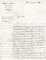 1830 GÊNES - BRIGADE DE SAVOIE  L.A.S. De MAUGUY Au Chev. De SAUVAGE Capitaine De Grenadiers à La Brigade De SAVOIE - Documents Historiques