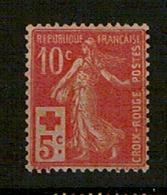 N° 147** Type Semeuse Croix Rouge 10+5c - France