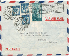 Italy Air Mail Cover Sent To USA Roma 15-4-1950 - 1946-.. Republiek