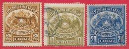 Chili Télégraphe N°1 à 3 1883 O - Chile