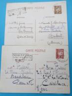 S4- Deux Entiers Pour Maroc Avec Tarif Différent - Cartoline Postali E Su Commissione Privata TSC (ante 1995)
