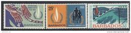 1968 BARBADES 286-88** Droits De L'homme - Barbados (1966-...)