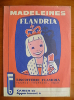 Rare Protège Cahier  Madeleines FLANDRIA A FACHES THUMESNIL - Buvards, Protège-cahiers Illustrés