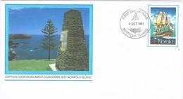 30352. Entero Postal  NORFOLK Island 1981. Monument Cap. COOK - Norfolk Island