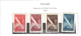Polonia PO 1948 Restauri Territori  Scott.426/429 +See Scan On Scott.Page; - 1944-.... República