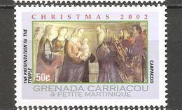 GRENADA CARRIACOU - 2002 CARPACCIO Presentazione Di Gesù Al Tempio (Galleria Accademia, Venezia) Nuovo** MNH - Religione