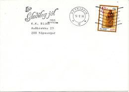 Iceland Cover Reykjavik 19-12-1996 Single Franked Christmas Stamp - 1944-... Republique