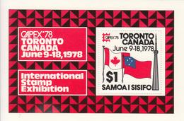 "1978 Samoa Capex Flags Philately  Souvenir Sheet  MNH  ""I Was There!!!!"" - Samoa"