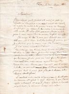 1818 - DAX - Lettre à M.BORDA LABATUT, Ancien Chef De Bataillon à LABATUT (arbre Généalogique) - Documents Historiques