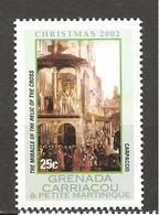 GRENADA CARRIACOU - 2002 CARPACCIO Miracolo Della Reliquia Della Croce (Galleria Accademia, Venezia) Nuovo** MNH - Religione