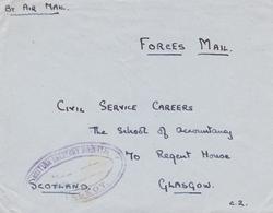 Lettre Sialkot Inde India Forces Mail British Military Hospital Glasgow Scotland 16 Punjab Regiment - Altri