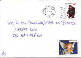 Iceland Cover Reykjavik 20-12-1999 Single Franked And With Christmas Seal - 1944-... Republique