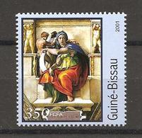 GUINEA-BISSAU - 2001 MICHELANGELO Sibilla Delfica (Cappella Sistina, Vaticano) Nuovo** MNH - Religión