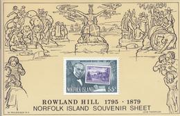 1979 Norfolk Island Rowland Hill Philately  Souvenir Sheet  MNH - Norfolk Island