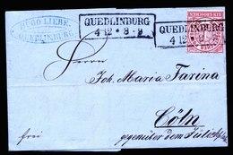 A5695) AD Norddeutscher Postbezirk Brief Quedlinburg 4.12.69 An Farina Cöln - Norddeutscher Postbezirk