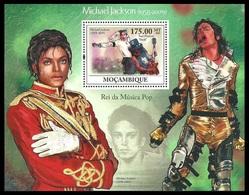 MOZAMBIQUE 2009 POP ROCK MUSIC MICHAEL JACKSON M/SHEET MNH - Mozambique
