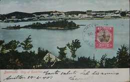 O) 1902 CIRCA - BERMUDA, STAMP DRY DCK 1p Rose And Brown, CITY OF HAMILTON-LANDSCAPE, POSTAL CARD XF - Bermudes