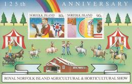 1986 Norfolk Island Agriculture Show Horse Cattle Souvenir Sheet  MNH - Norfolk Island