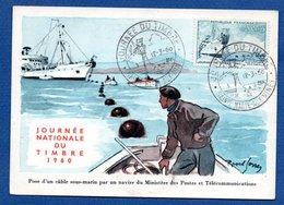 Carte  /  Pose D'un Cable Sous-marin Par Un Navire Des PTT / Sainte Marie Aux Mines  / 12-3-60 - Cartes-Maximum