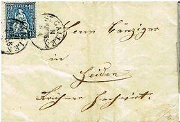 Schweiz Suisse 1863: HELVETIA 10c Blau Zu 31 Mi 23 Yv 36 Falt-Brief Mit O ST.GALLEN 11 JUIN 63 Nach HEIDEN (Zu CHF 5.00) - 1862-1881 Helvetia Assise (dentelés)