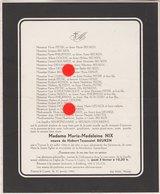 Fouron Le Comte 1966 Mme NIX Veuve BEUKEN - Announcements