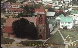 Paco \ ISOLE FALKLAND \ 195CFKA (Ø) \ Christ Church Cathedral (Reprint) \ Usata - Falkland Islands