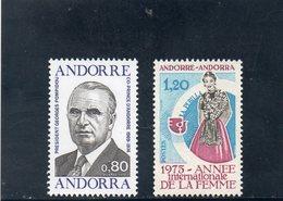 ANDORRE FR. 1975 ** - Andorre Français