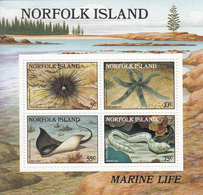 1986 Norfolk Island Marine Life Souvenir Sheet  MNH - Norfolk Island