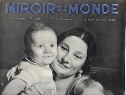 Miroir Du Monde N°288, 7 Septembre 1935 - Bücher, Zeitschriften, Comics