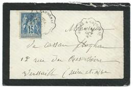 ENVELOPPE SAGE 15c / AMBULANT RODEZ A CAPDENAC  1887 - Storia Postale