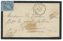 ENVELOPPE SAGE 15c / AMBULANT RODEZ A CAPDENAC  1879 - Storia Postale