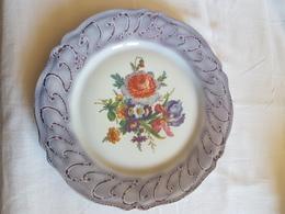 4 Assiettes Porcelaine De Limoges  Impécable.- DECOR Fleurit- 27 Cm .LUSSERAY Jacques SEQUEVILLE - Other Collections