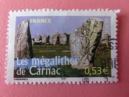 Timbre France YT 3819 - Portraits De Régions - La France à Voir - Mégalithes De Carnac - 2005 - Adhesive Stamps