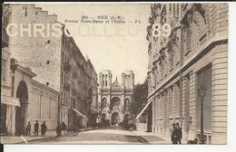 Carte Postale: Nice - Avenue Notre Dame Et L'Eglise - Bauwerke, Gebäude