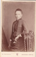 ANTIQUE CDV PHOTO -  STANDING LADY, 'STARY' EYES.  BARNARD CASTLE STUDIO - Photographs