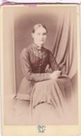 ANTIQUE CDV PHOTO -  STANDING LADY,   FORT WILLIAM STUDIO - Photographs
