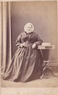 ANTIQUE CDV PHOTO -  OLDER LADY.  HAT.  TAVISTOCK  STUDIO - Photographs