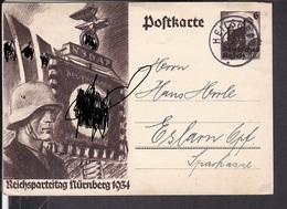 Ganzsache Deutsches Reich Stempel Heilsbronn 1934 - Deutschland