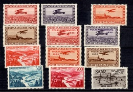 Sarre Poste Aérienne YT N° 1/12 Complet Neufs **/*. TB. A Saisir! - Airmail