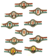 Nederlandsche Munt 1969 Serie Grands Hommes Et Tyrans 10 Bagues Kennedy De Gaulle Franco Johnson... - Bagues De Cigares