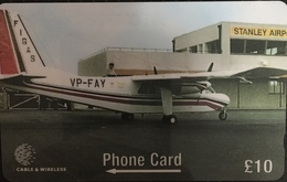 Paco \ ISOLE FALKLAND \ 275CFKB \ 50th Anniversary FIGAS - Britten-Norman Islander BN2A27 \ Usata - Falkland Islands