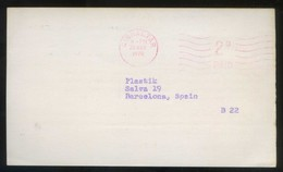 TP Comercial *J.J. Berliner & Staff. New York* Meds: 89 X 152 Mms. Circulada 1970. - Gibraltar
