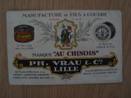 "CPA MANUFACTURE DE FILS A COUDRE MARQUE ""AU CHINOIS"" PH. VRAU & Cie LILLE - Advertising"
