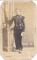 CDV Portrait Militaire En Pied - M. BADET - Shako - Par A Villeméjeanne à Avignon (Ca 1865/1870) - Guerre, Militaire