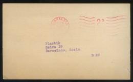 TP Comercial *J.J. Berliner & Staff. New York* Meds: 90 X 152 Mms. Circulada 1971. - Gibraltar