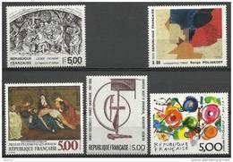"""FR YT 2551 2553 2554 2557 2558 """" Série Artistique """" 1988 Neuf** - Nuevos"""
